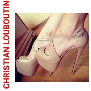 Christian Louboutin Exagona Tan Pumps Nude Heels